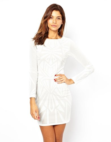 Lipsy Body-Conscious Dress with Sequin Detail