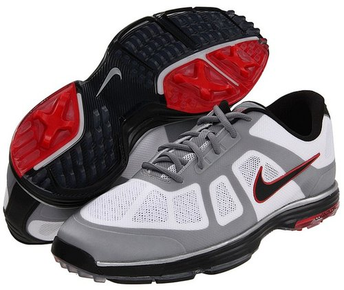 Nike Golf - Lunar Ascend (White/Black/Action Red/Granite) - Footwear
