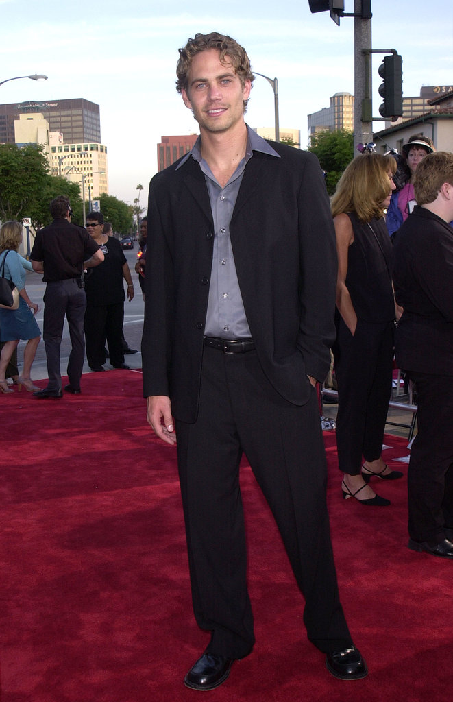 Paul walked the red carpet for the LA premiere of The Fast and the Furious in June 2001.