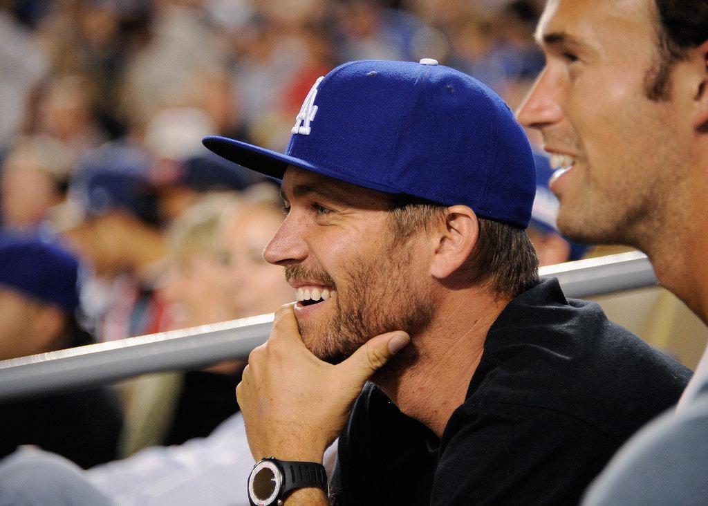 He took in an LA Dodgers game in September 2011.