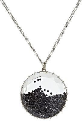 Renee Lewis White Gold & Black Diamond Shake Pendant Necklace