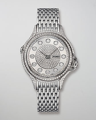 Fendi Crazy Carats Precious Pave Diamond Watch