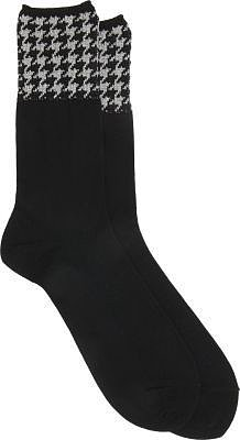 Comme des Garçons Black Socks With Patterned Tops