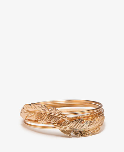 FOREVER 21 Feather Bangle Set