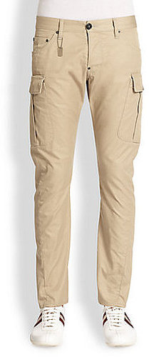 DSQUARED Cotton Twill Cargo Trousers