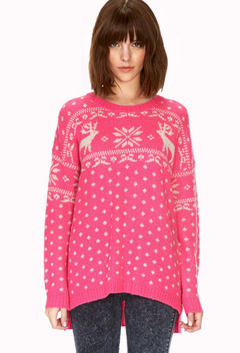 FOREVER 21 Reindeer Holiday Sweater