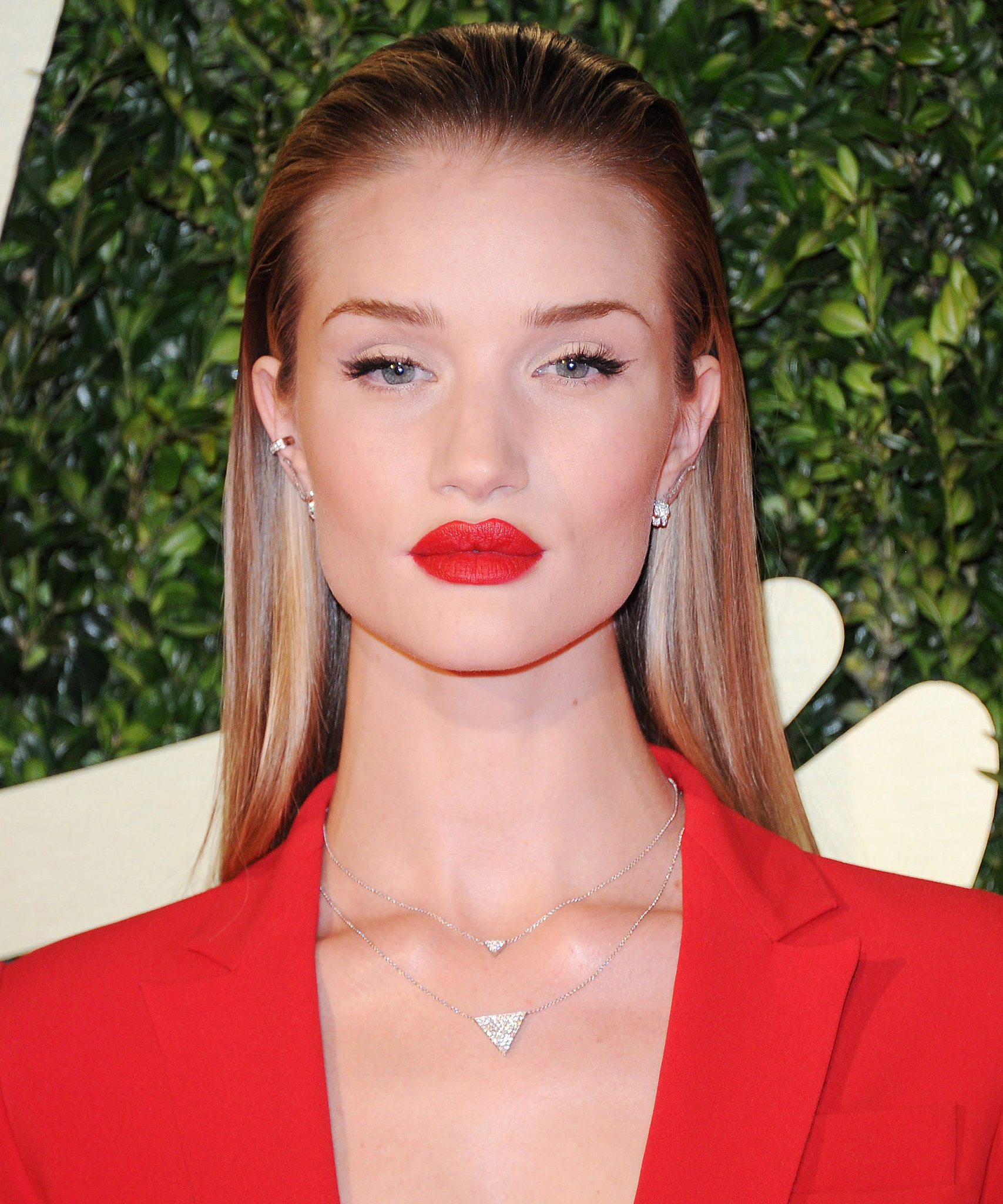 With her hair slicked back, Rosie Huntington-Whiteley's ... Rosie Huntington Whiteley Lipstick