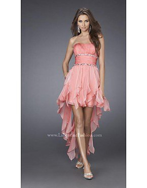 La Femme 15087 Coral Dresses for Homecoming