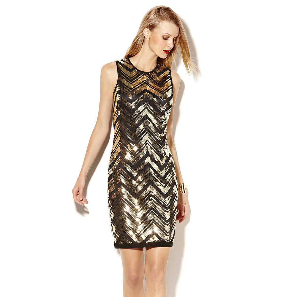 Embrace the holiday spirit in this Vince Camuto Sequin Shift Dress ($148).