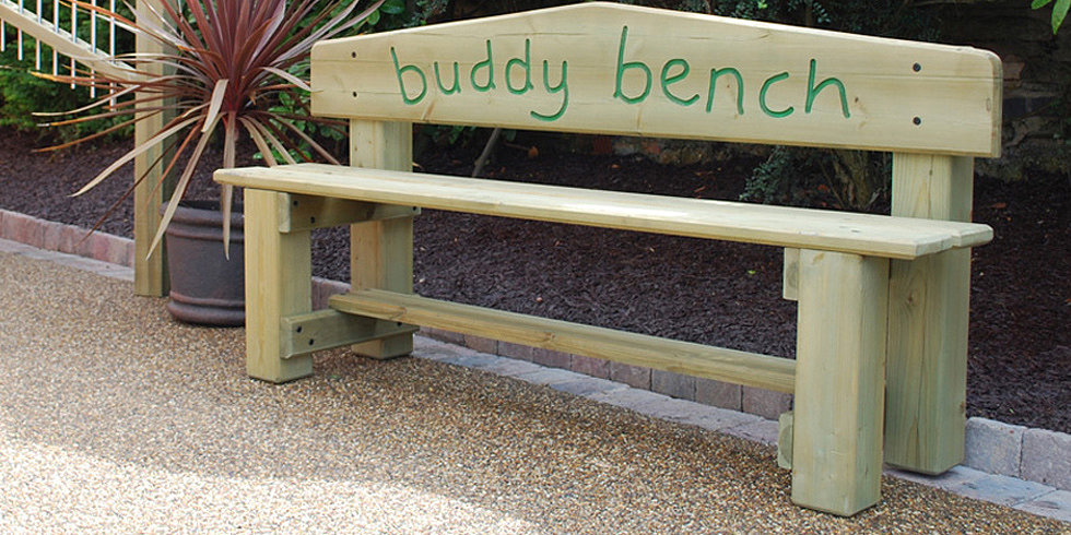Second-Grader Builds Buddy Bench to Help Kids Make Friends
