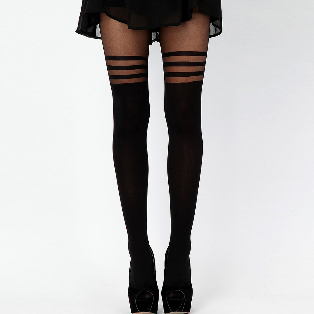 Add a little sex appeal to the gift exchange with a pair of Lareta tights ($11).