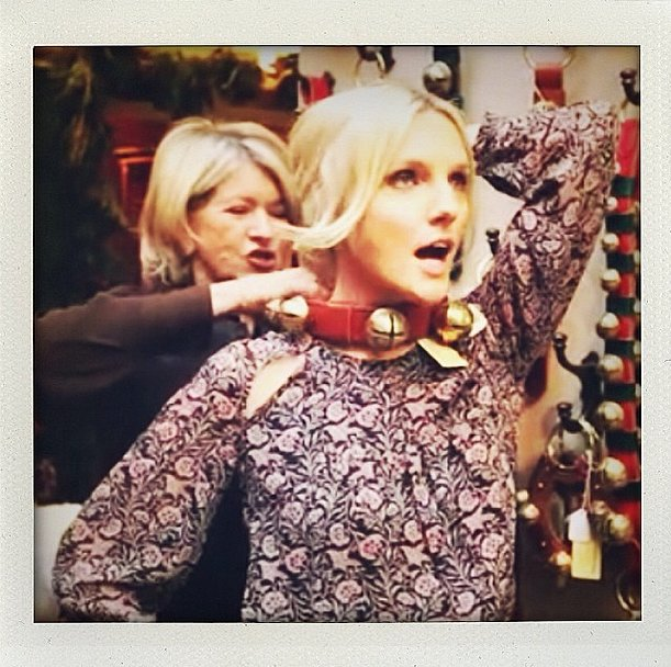 Martha Stewart and Laura Brown jingled all the way. Source: Instagram user laurabrown99