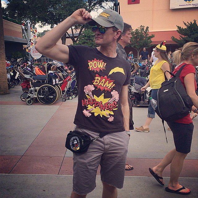 Neil Patrick Harris was well prepared for his day at Disney World. Source: Instagram user instagranph