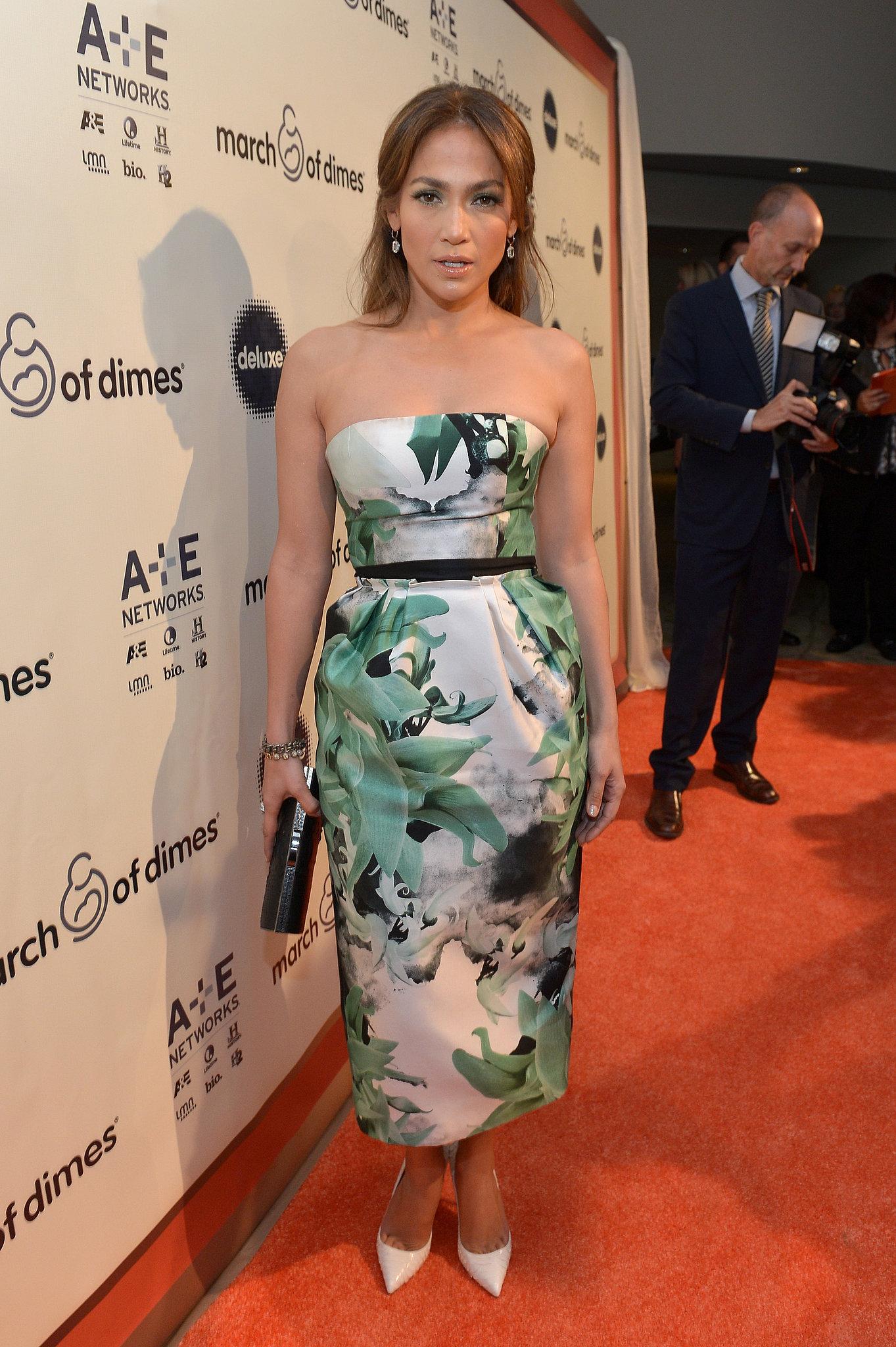 Jennifer Lopez received the March of Dimes Grace Kelly Award.