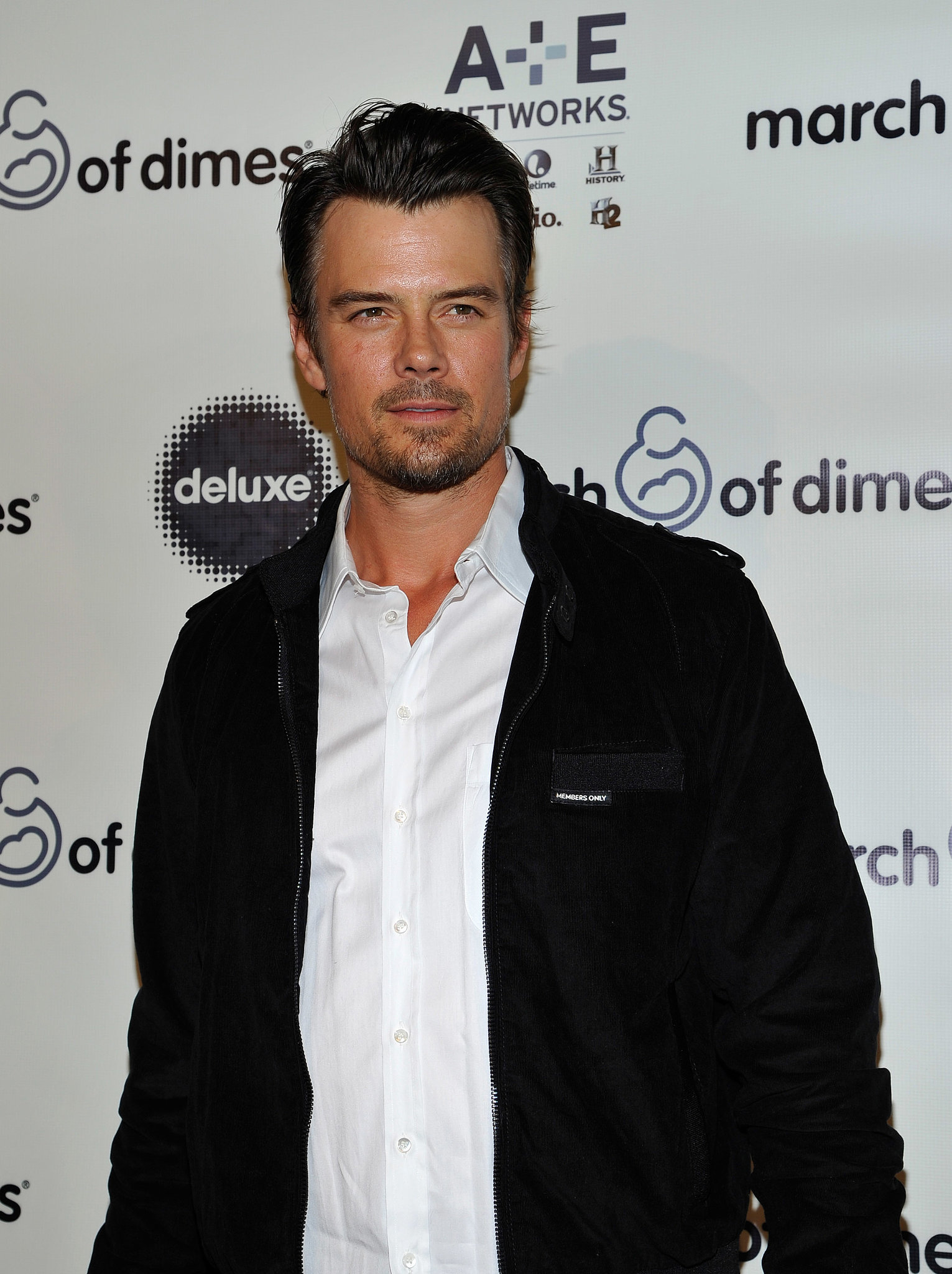 New dad Josh Duhamel made an appearance at the March of Dimes luncheon.