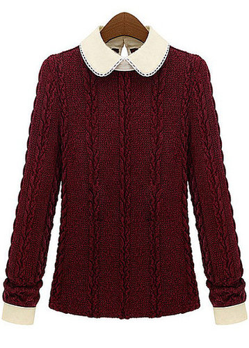 Peter Pan Collar Winter Sweater