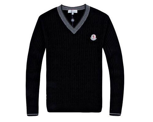 Moncler Mens Sweater College Grey Black