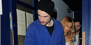 Robert Pattinson Celebrates Sienna and Tom in London