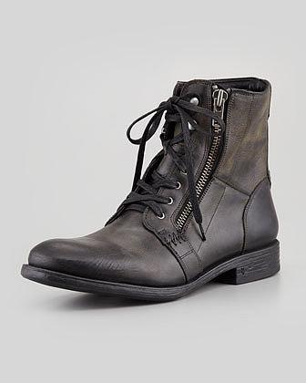 John Varvatos Star USA Bleeker Side-Zip Boot, Black