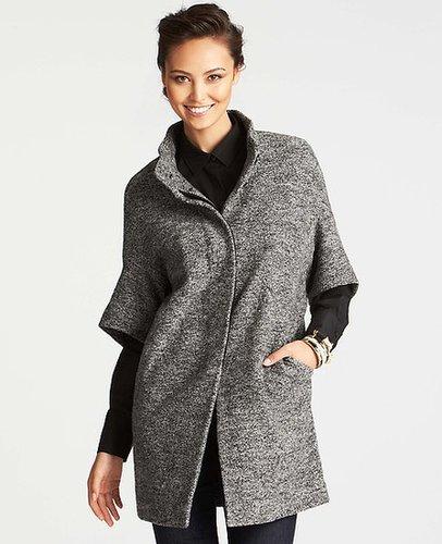 Boiled Wool Short Sleeve Coat