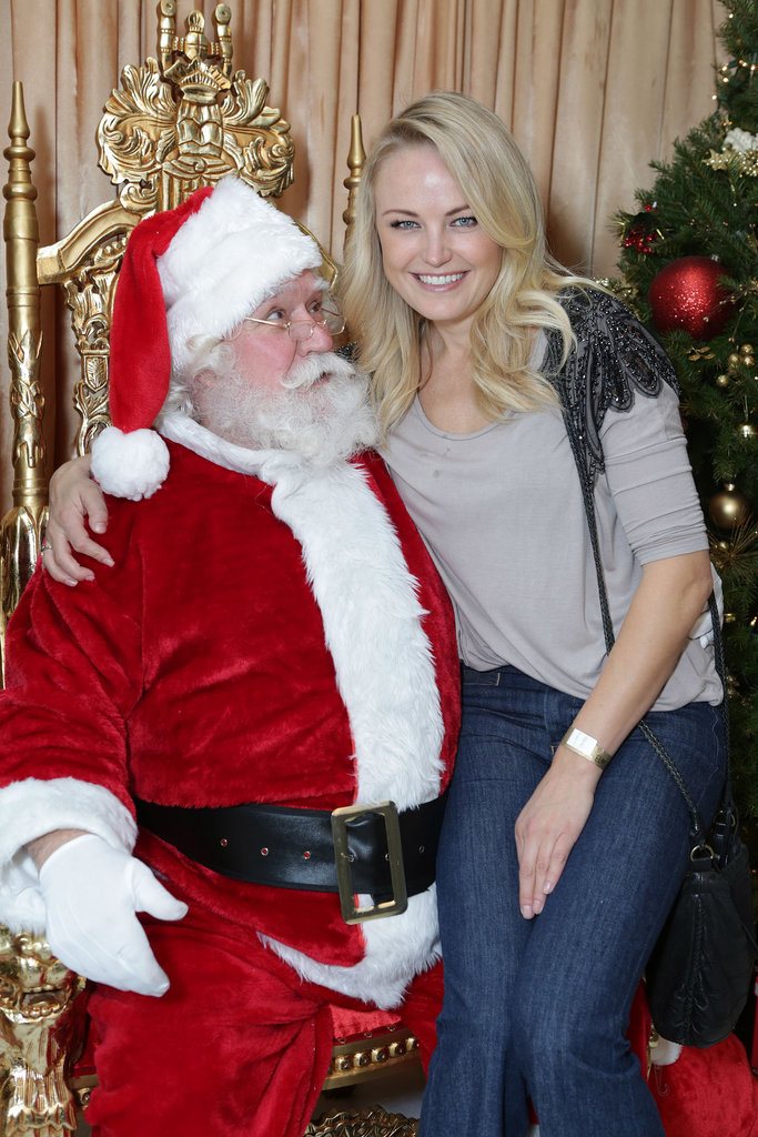 Trophy Wife star Malin Akerman made Santa's eyes twinkle at his Secret Workshop benefit in LA.