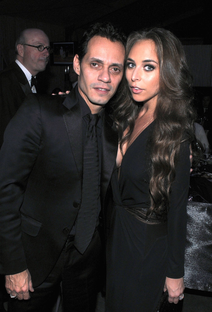 Marc Anthony and his girlfriend, Chloe Green, attended the PAMM Gala at the Pérez Art Museum on Friday in coordinated black attire.