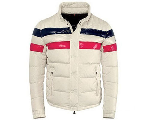 Moncler Mens Polished Down Coats 8910 White