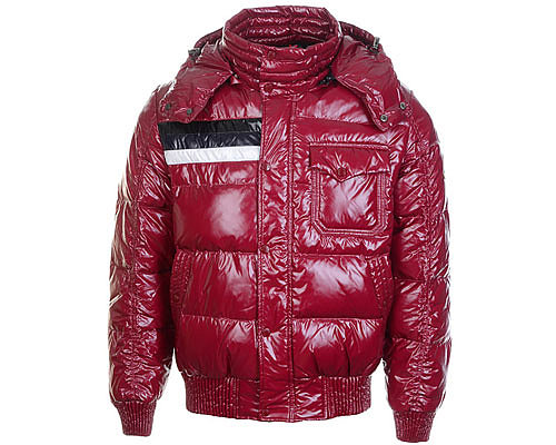 Moncler Mens Hooded Down Coats 7780 Burgundy