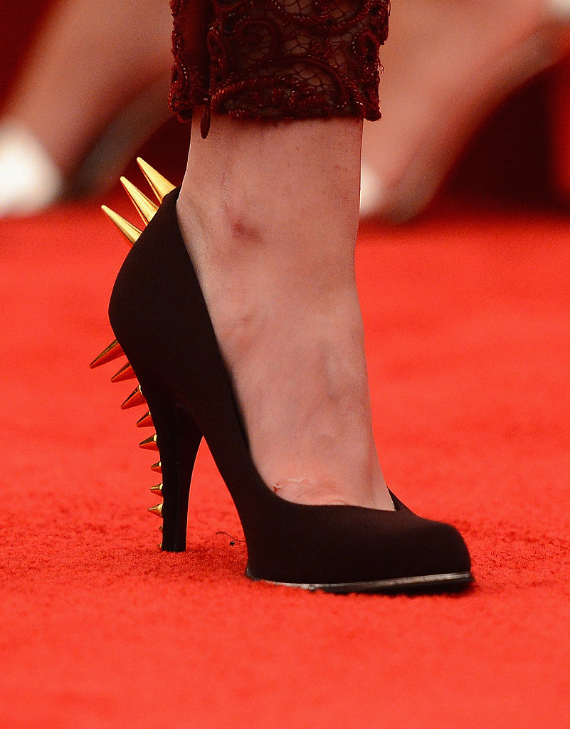 Kristen Stewart kicked her normal Converse to the curb in favor of spiked heels at this year's Met Gala.