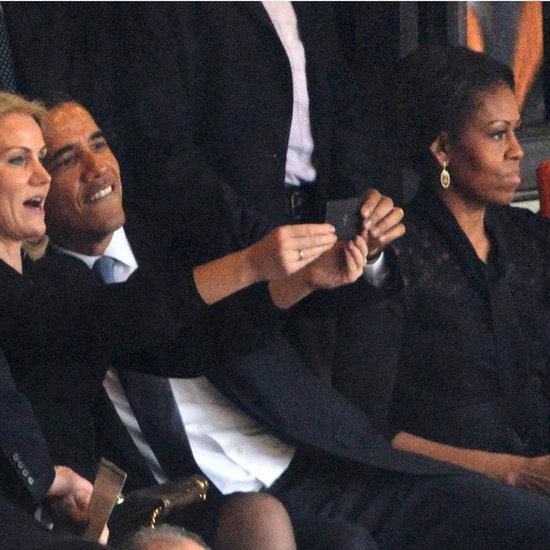 President Obama Selfie at Nelson Mandela's Funeral