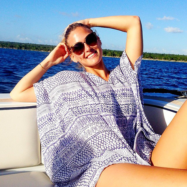 Bar Refaeli basked in the sun while relaxing on a boat — but what else is new? Source: Instagram user barrefaeli
