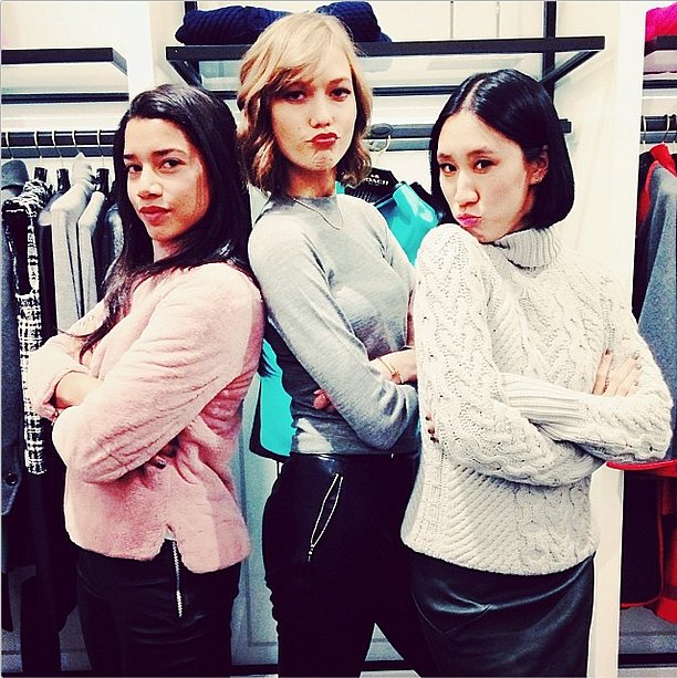 Hannah Bronfman struck a pose at a Coach event with Karlie Kloss and Eva Chen. Source: Instagram user hannahbronfman
