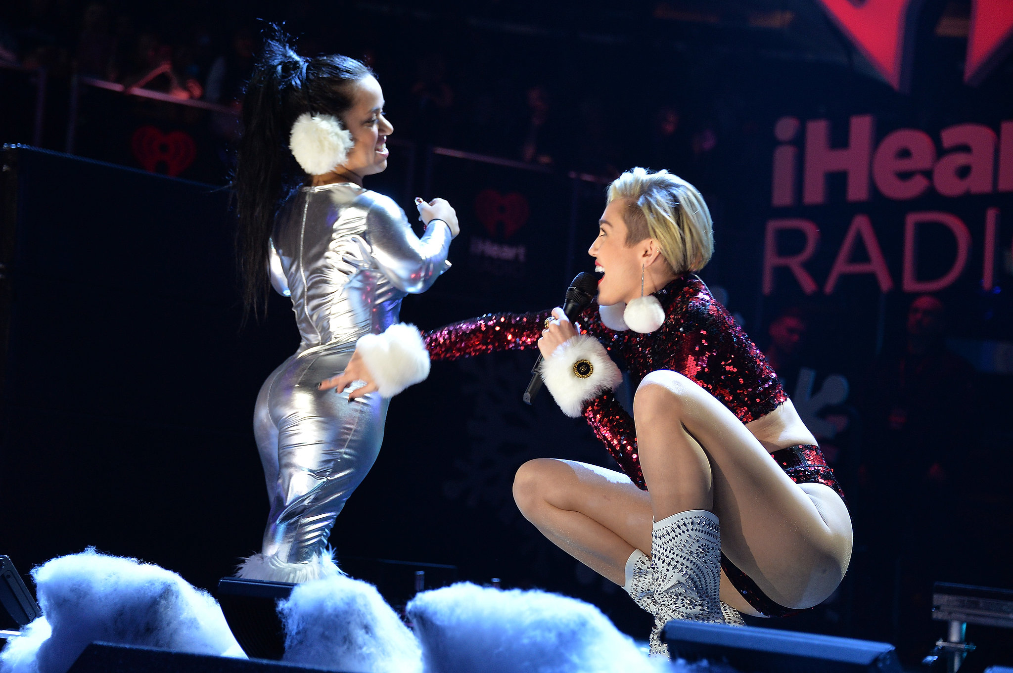 Miley Cyrus performed at the Jingle Ball.