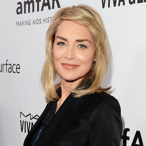 Celebrities At 2013 amfAR Inspiration Gala; Sharon Stone