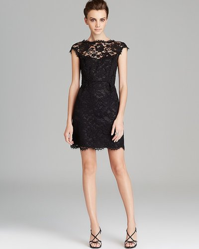 Shoshanna Cap Sleeve Lace Dress - Olivia