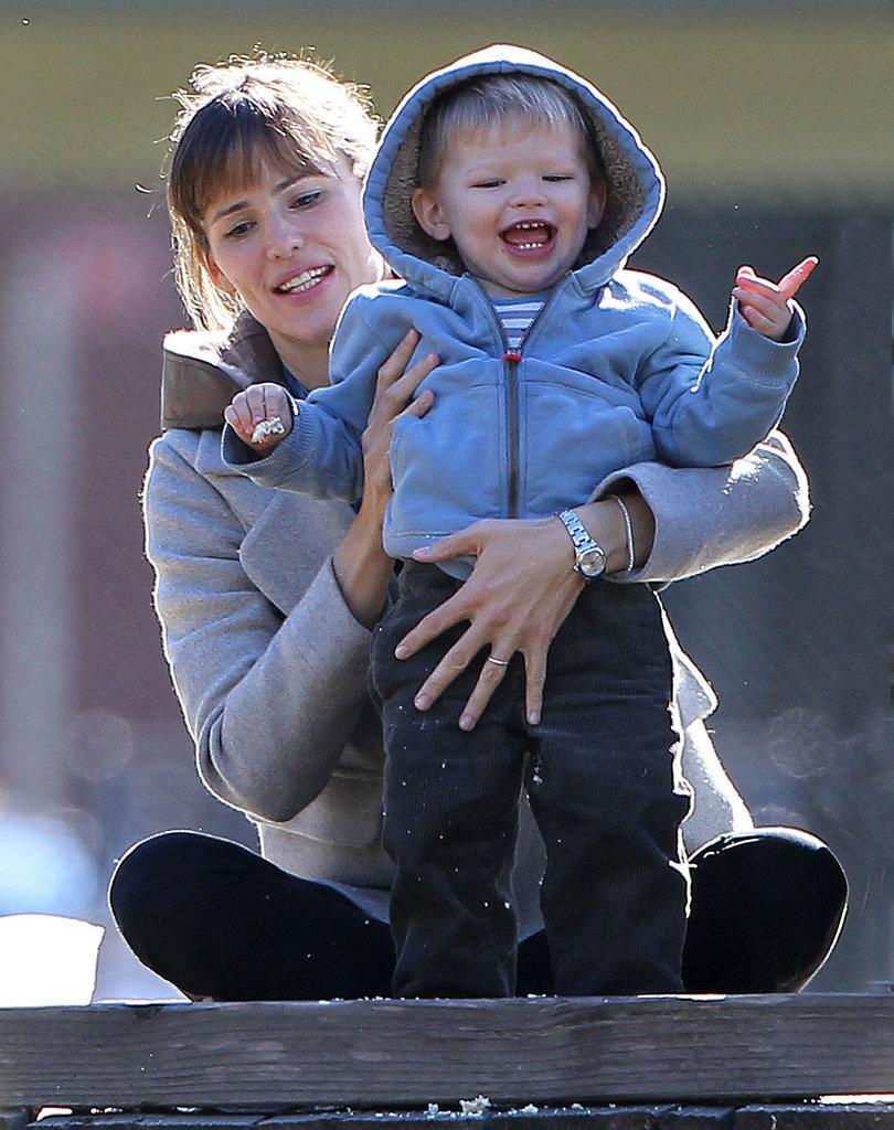 Jennifer Garner had a park day with her son, Samuel Affleck, in LA.