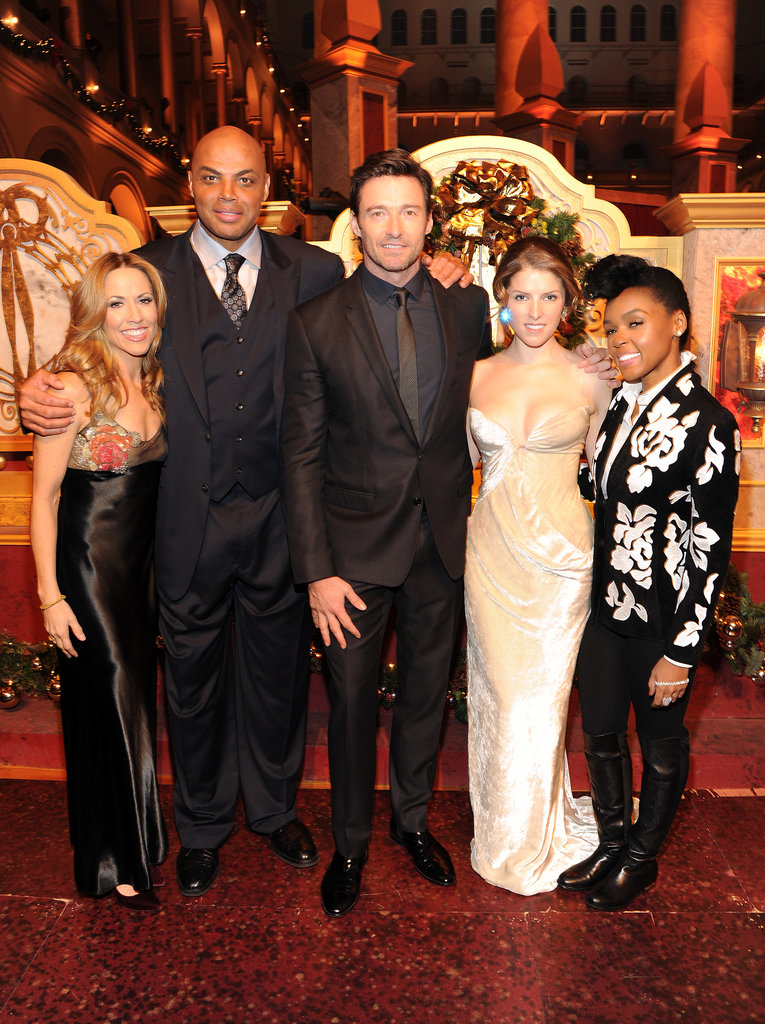 Sheryl Crow, Charles Barkley, Hugh Jackman, Anna Kendrick, and Janelle Monáe attended TNT's Christmas in Washington special.