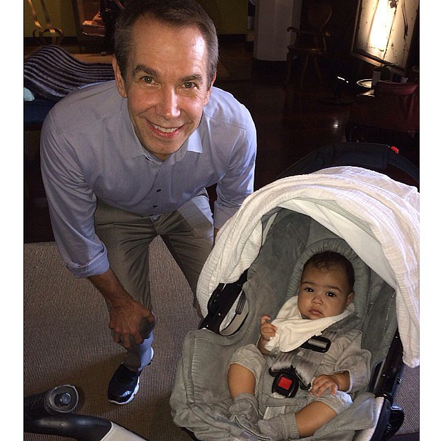 "North got ""art lessons"" with Jeff Koons during Miami's Art Basel in December 2013."