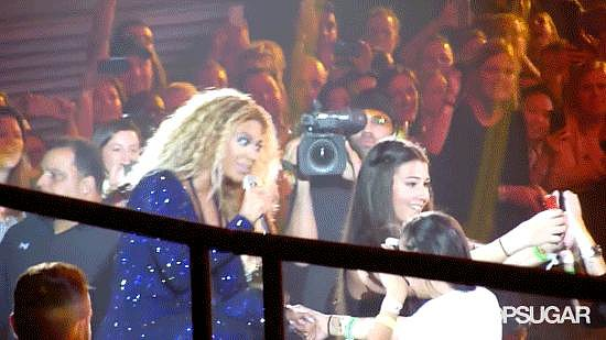 There were many memorable moments on Beyoncé's Mrs. Carter Show tour, but this fan photobomb in October is definitely in the top five.