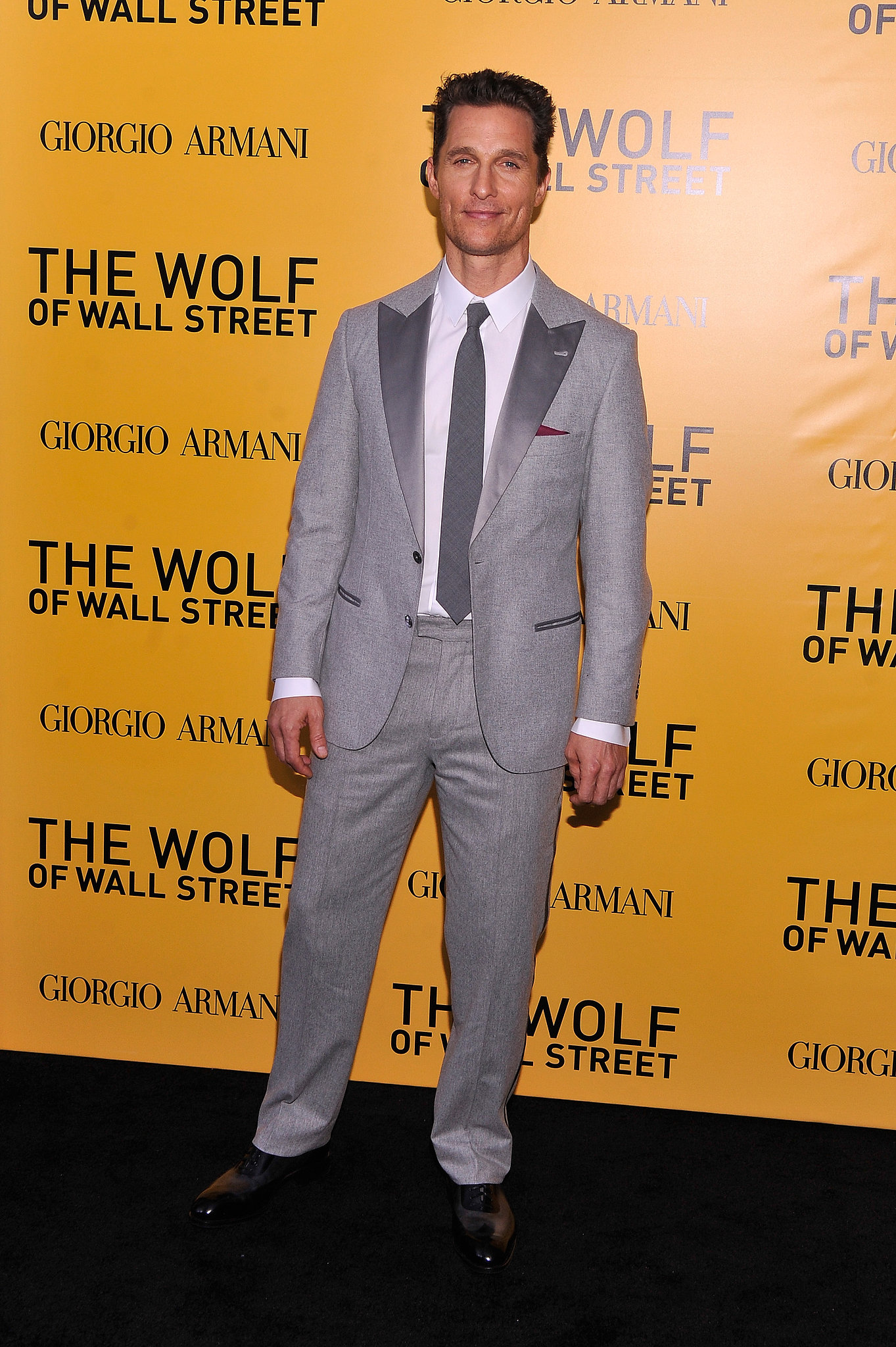 Matthew McConaughey attended the NYC premiere of The Wolf of Wall Street.
