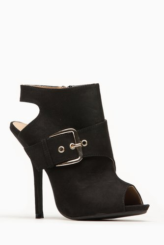 Wild Diva Side Buckle Peep Toe Bootie @ Cicihot Heel Shoes online store sales:Stiletto Heel Shoes,High Heel Pumps,Womens High He