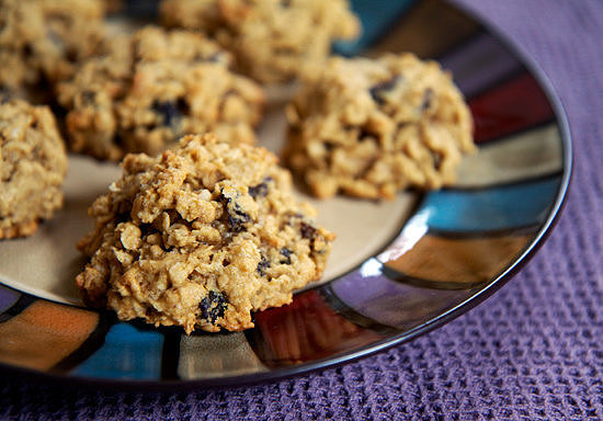 Peanut Butter Oatmeal Raisin (and Bean!) Cookies
