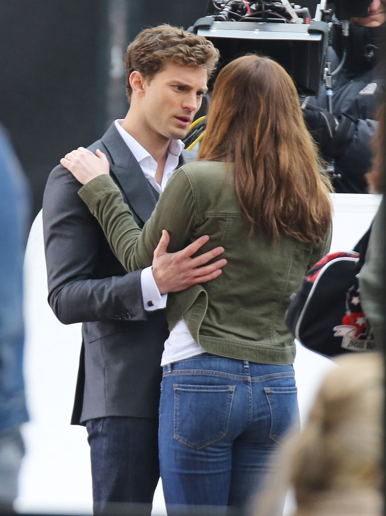 Dornan may have been serious in this scene, but his eyes were still dreamy.
