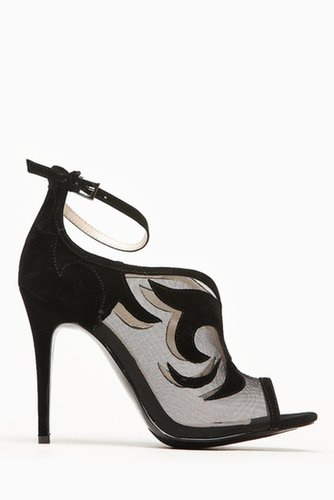 Anne Michelle Classic Black Mesh Peep Toe Heel @ Cicihot Heel Shoes online store sales:Stiletto Heel Shoes,High Heel Pumps,Women