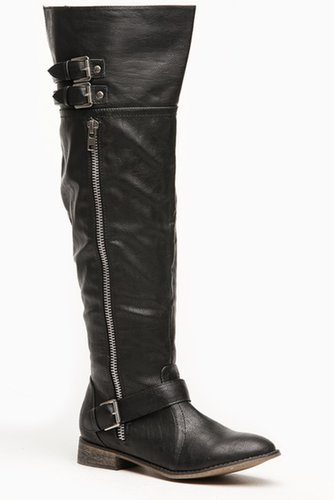 Breckelles Black Knee High Wonderlust Rider Boots