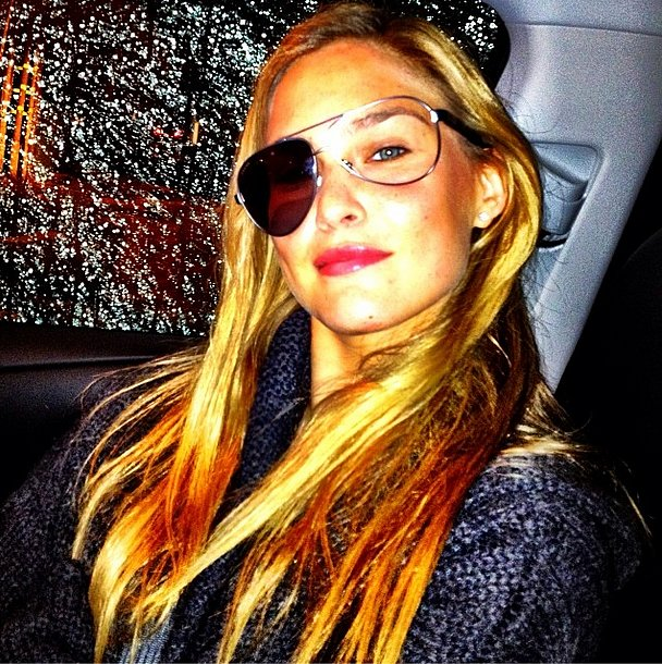 Ahoy! Bar Refaeli played pirate with a broken pair of sunglasses. Source: Instagram user barrefaeli