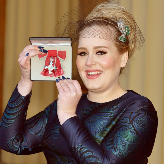 Adele Nail Art at Member of the Order of the British Empire
