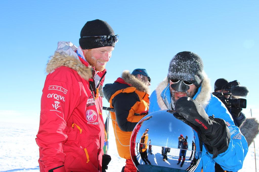 Prince Harry's South Pole Arrival