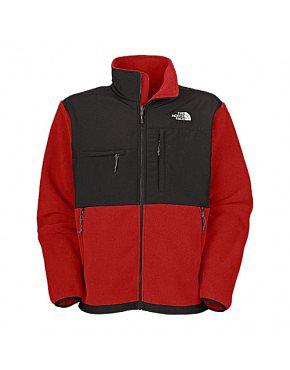 North Face Gilet Mens Denali Fleece Jacket Red BJ130166