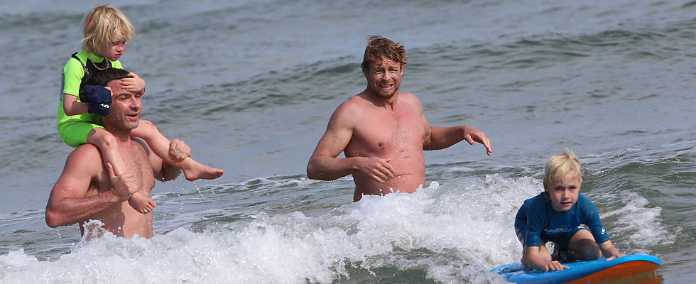 Sign Us Up For Liev and Simon's Surfing Lessons